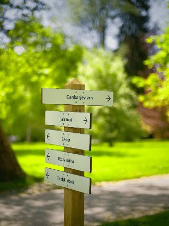 Krajinski park Tivoli, Rožnik in Šišenski hrib znamenitosti