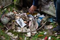<p>  Med odpadki so prevladovale škatlice od cigaret, embalaža od pijač ter kartonska in papirnata embalaža.<br>  <br>  foto: Luka Šparl </p>