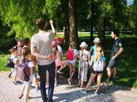 <p> Danes so nas zopet obiskali otroci, ki počitniški teden preživljajo v Narodni galeriji, Foto: Arhiv Narodne galerije </p>