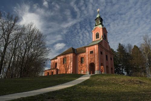 <p>  Cerkev Marijinega obiskanja na Rožniku </p>  Foto:Branko Čeak (Arhiv MOL)<br>