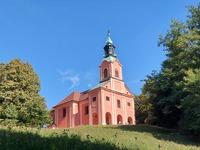 <p>  Cerkev Marijinega obiskanja na Rožniku (sakralna stavbna dediščina); </p> <p>  Foto: Mateja Nose Marolt </p>