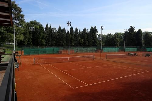 <p>  Teniška igrišča; Foto: Luka Šparl (Arhiv KP TRŠh) </p>